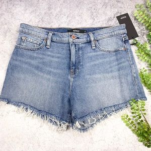 Hudson Gemma Cut Off Jean Shorts Long View